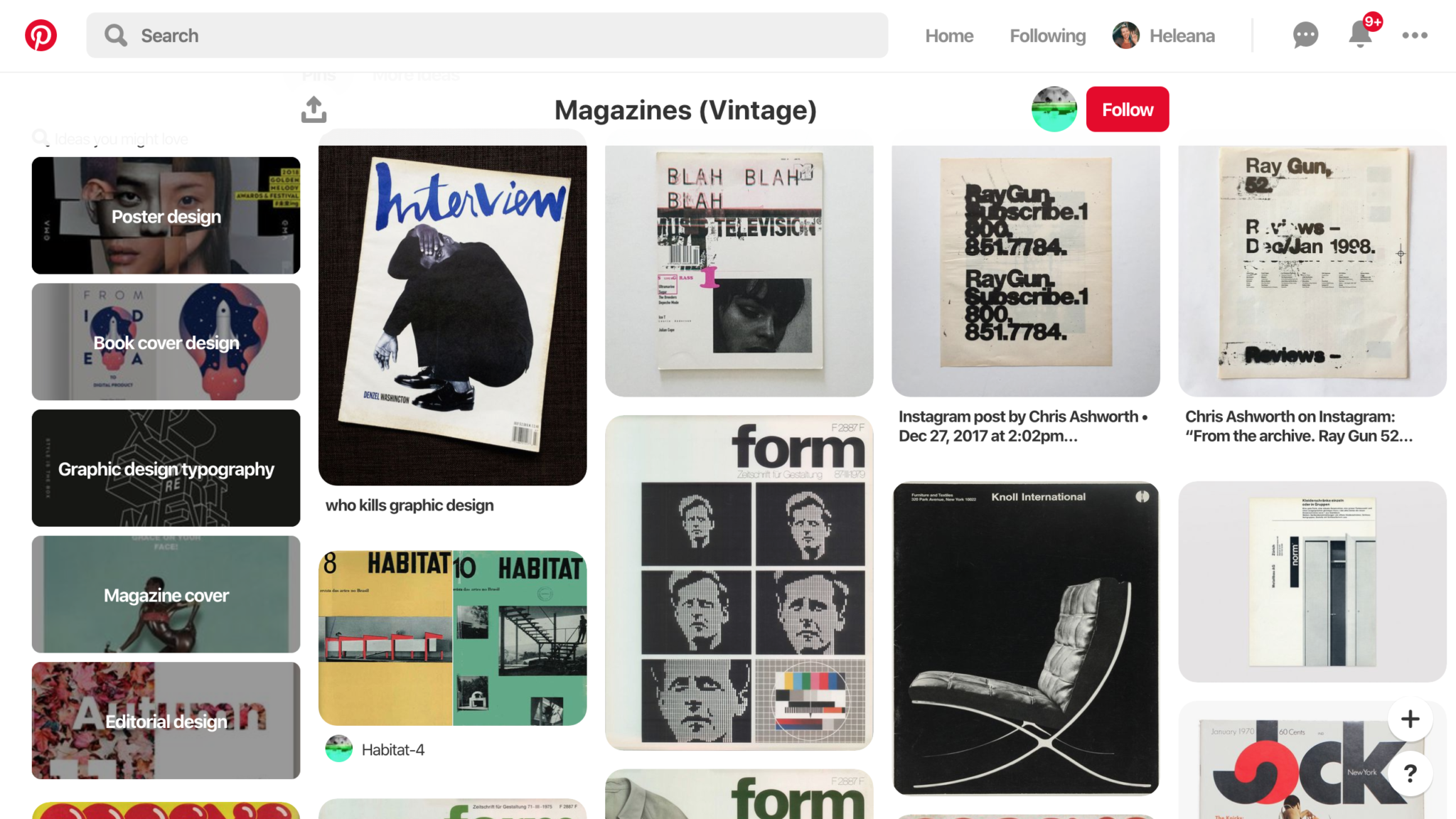 design inspiration vintage magazines
