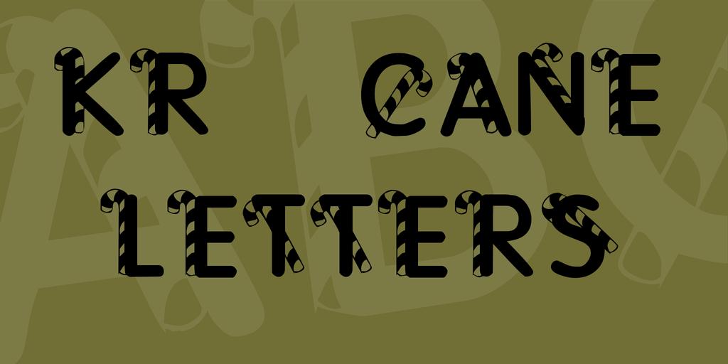 kr-cane-letters-font-1-big