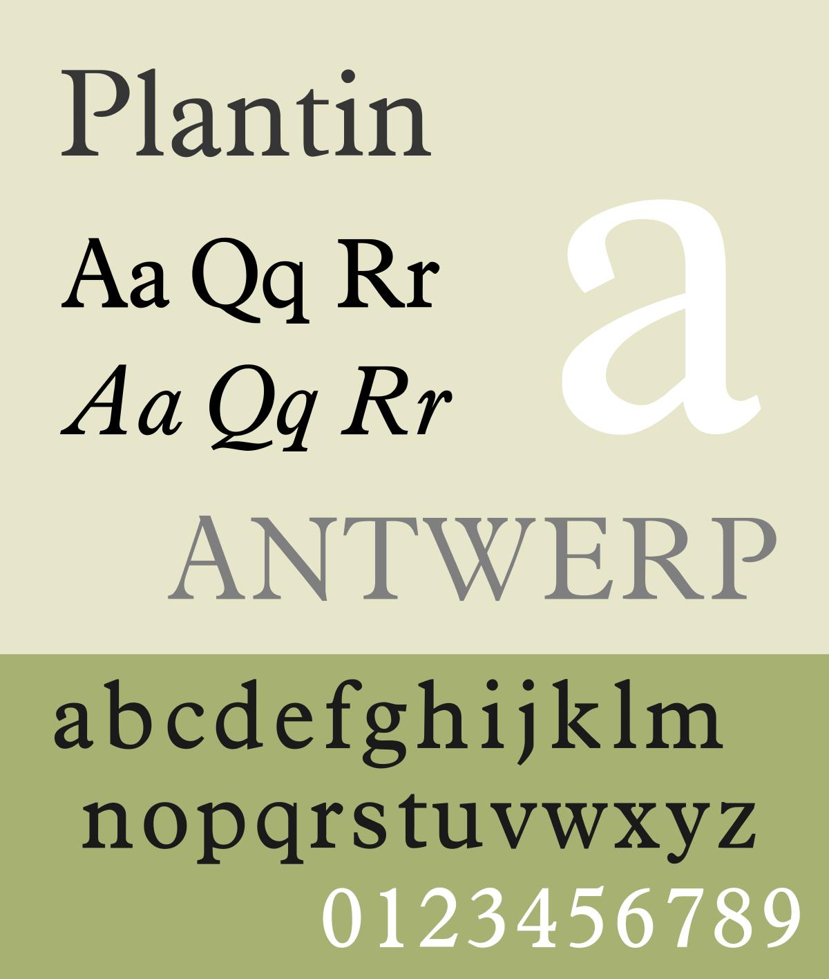 2020 popular fonts plantin