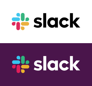 slack logo purple and white