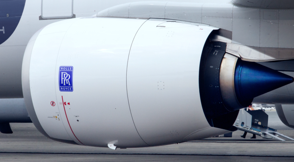 rolls royce rebranding 2020 on airplane