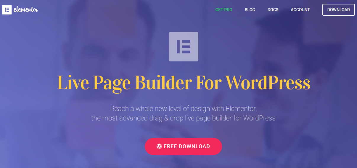 Elementor Page Builder Plugin for WordPress