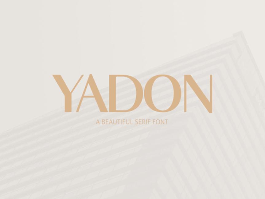 free-yadon-serif-font
