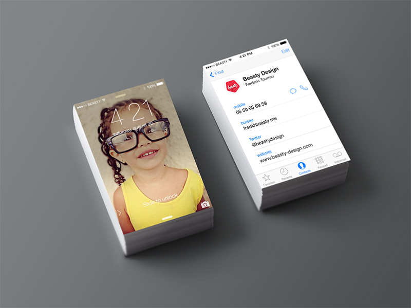Creative Business Card Designs For Your Inspiration - Iphone business card template free