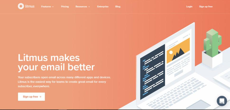 litmus website design