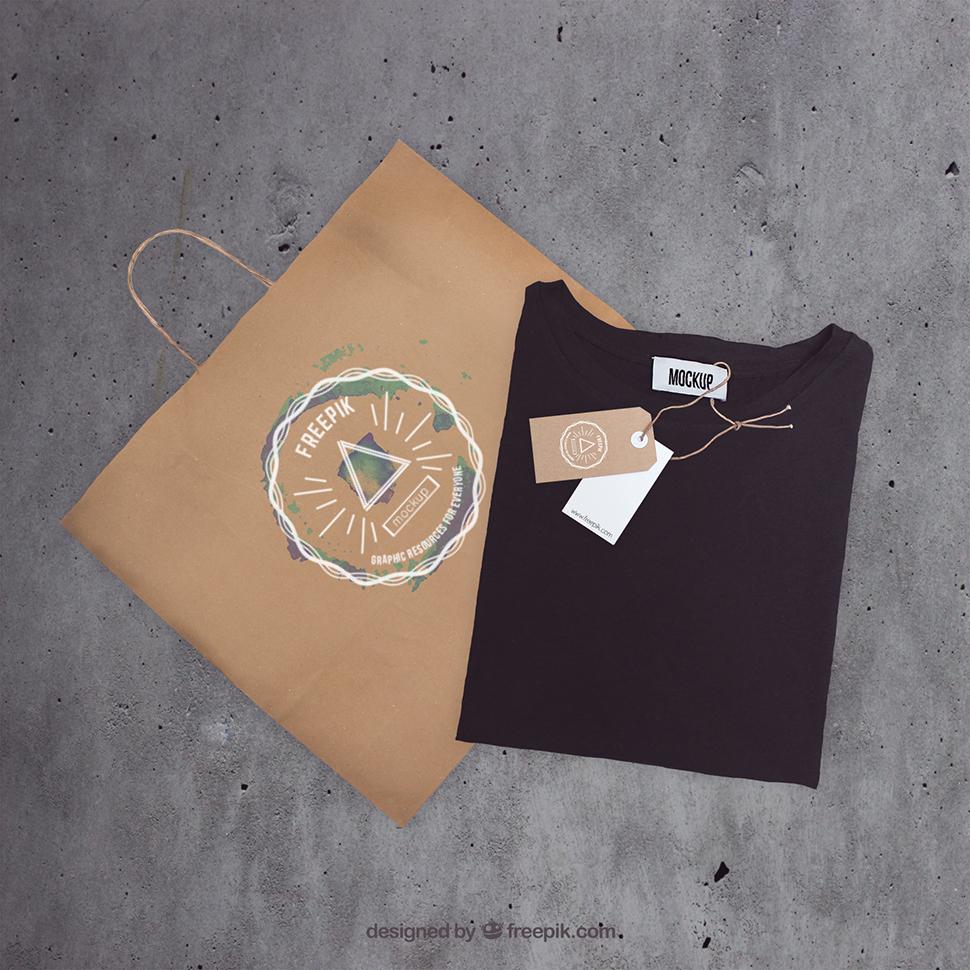 mockup-bag-and-t-shirt