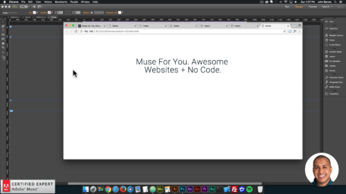 Animated Text Widget - Adobe Muse CC - Muse For You