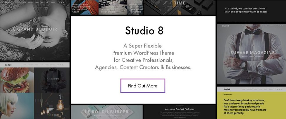 8 Useful WordPress Themes for Building Great Portfolios in 2018