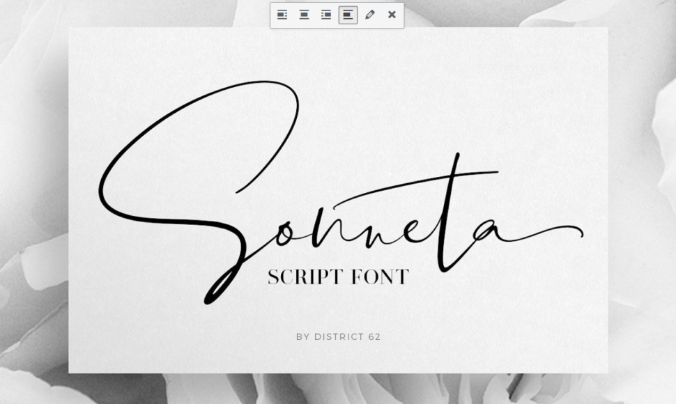 script modern fonts
