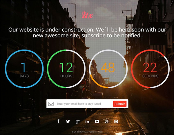 top 15 free website under construction coming soon templates