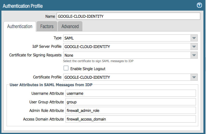 Google Cloud Identity for Administrator Authentication and