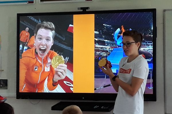 Bo Kramer tijdens de Nationale Sportweek
