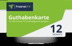 Elektronische Guthabenkarte für 12 Monate freenet TV