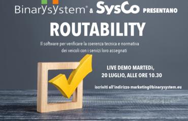 Binary System e SysCo presentano live il software ROUTABILITY