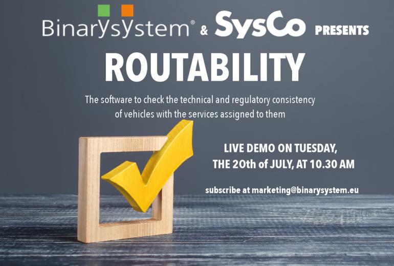 Binary System und SysCo präsentieren die ROUTABILITÉ-Software live