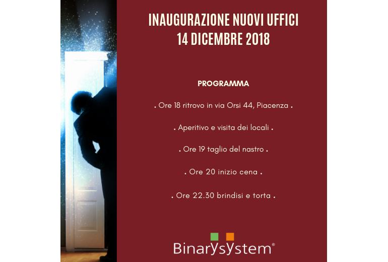 Inaugurazione nuovi uffici Binary System