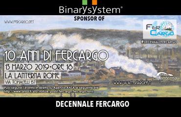 Binary System sponsor at Fercargo tenth Anniversary