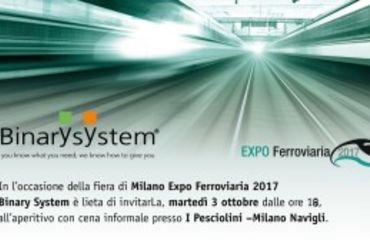 Evento Binary System per Expo Ferroviaria