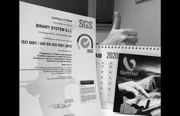 Nuovo certificato ISO 9001 per Binary System!
