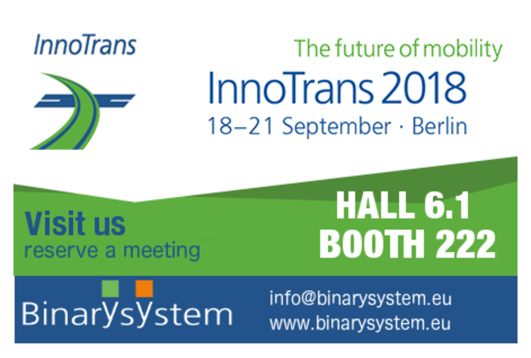 Visit Binary System at Innotrans!