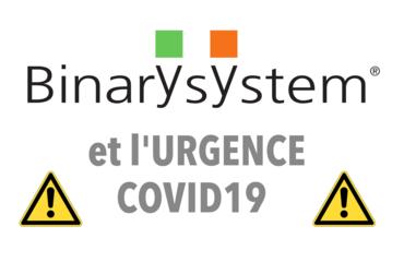Binary System et mesures préventives pour le confinement de propagation COVID19