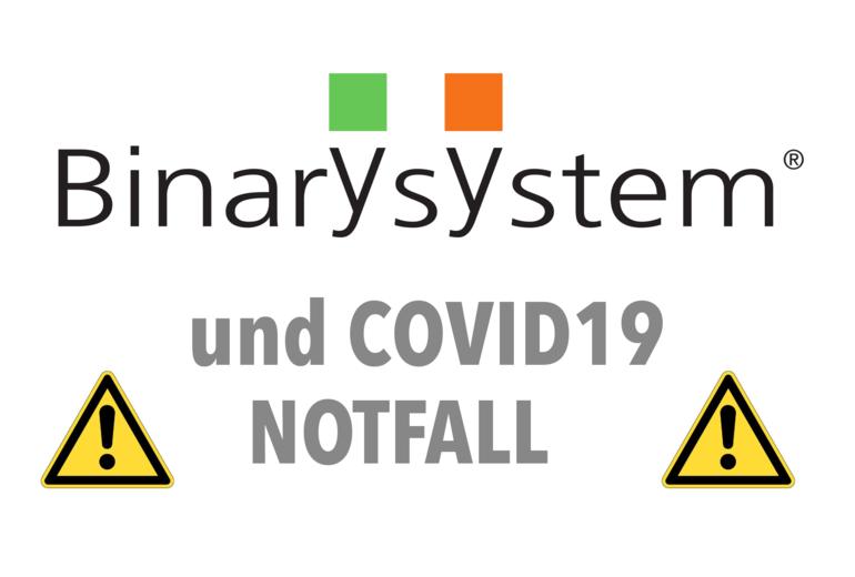 Binary System und vorbeugende Maßnahmen für das COVID19-Spread-Containment