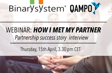 Binary und Qampo Webinar - How I met my Partner