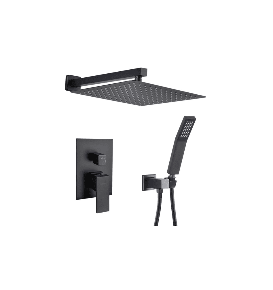 Faucet by Delta with Rainfall Shower Head - Hand-Held Shower (Matte Black Finish)