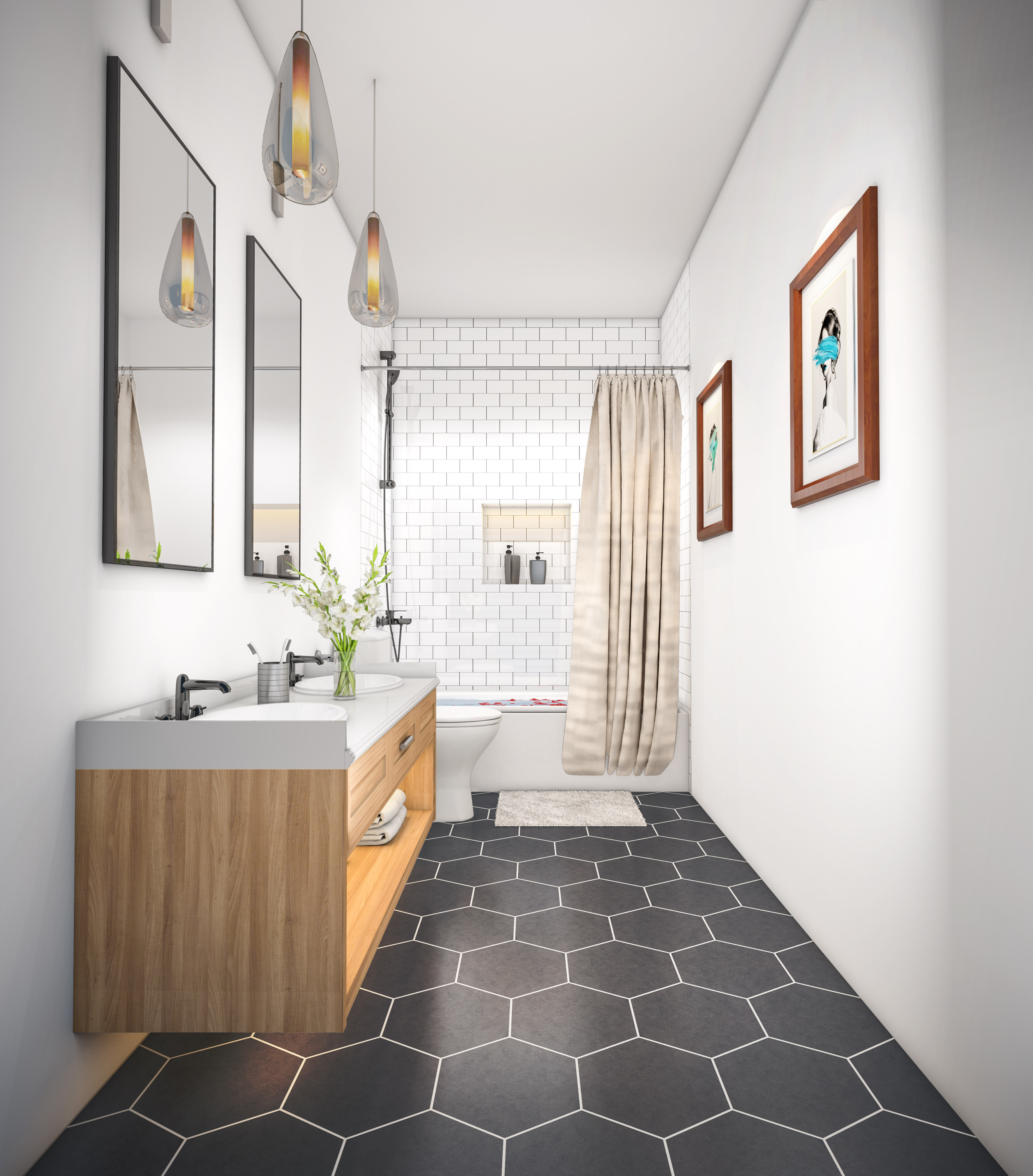 Warm Modern Bathroom Design