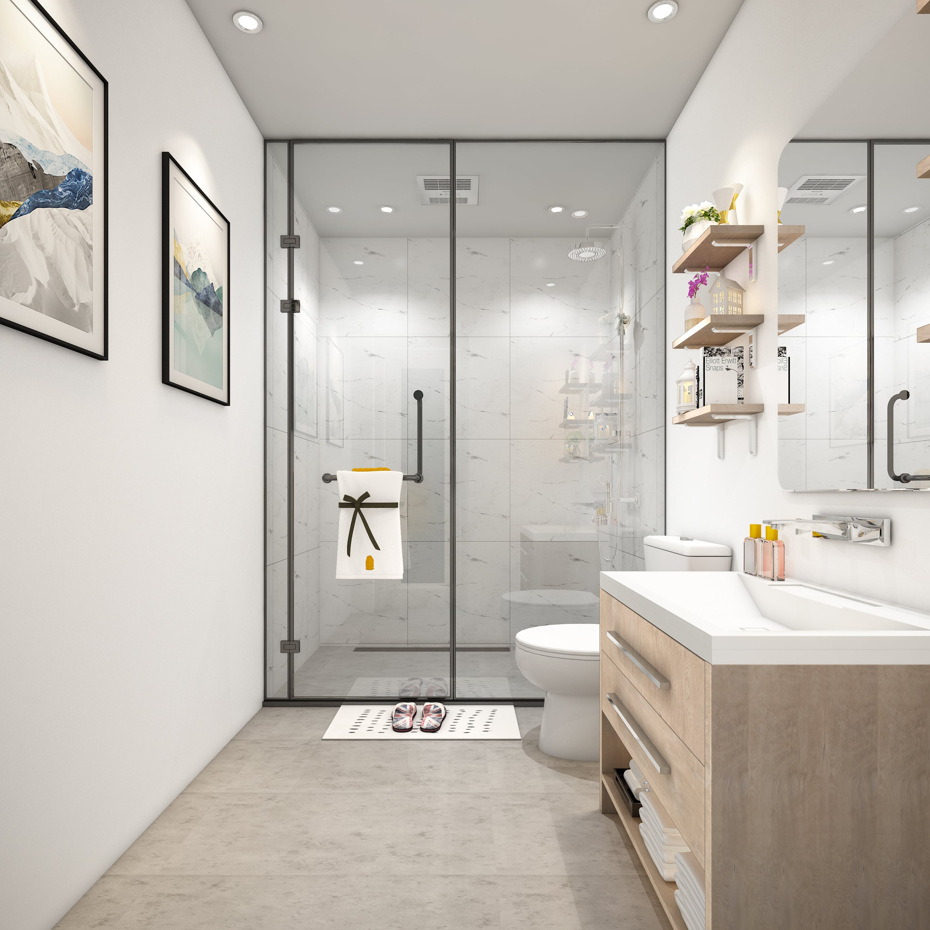 Simple Zen Bathroom Design