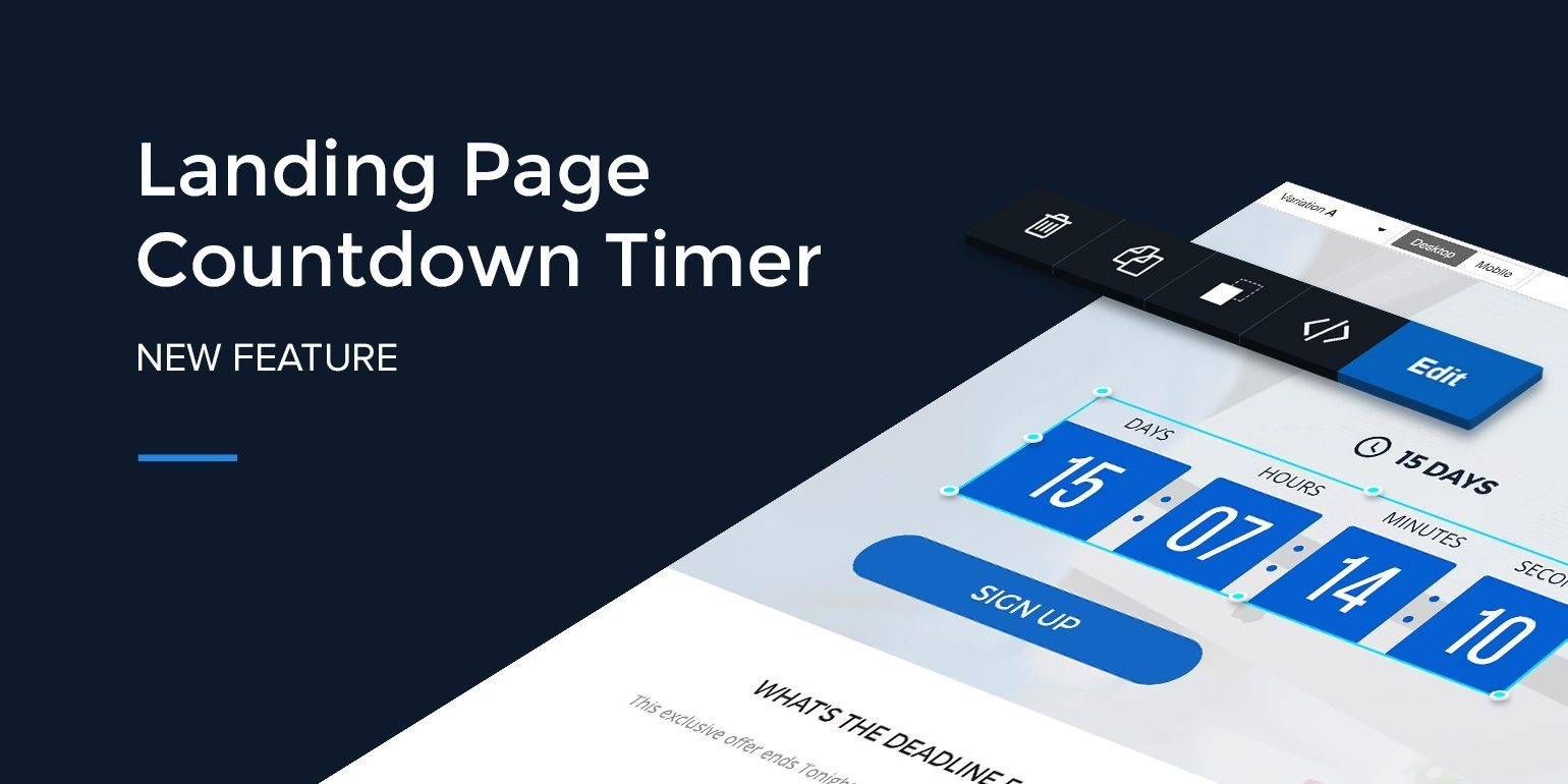 New Instapage Feature: Landing Page Countdown Timer