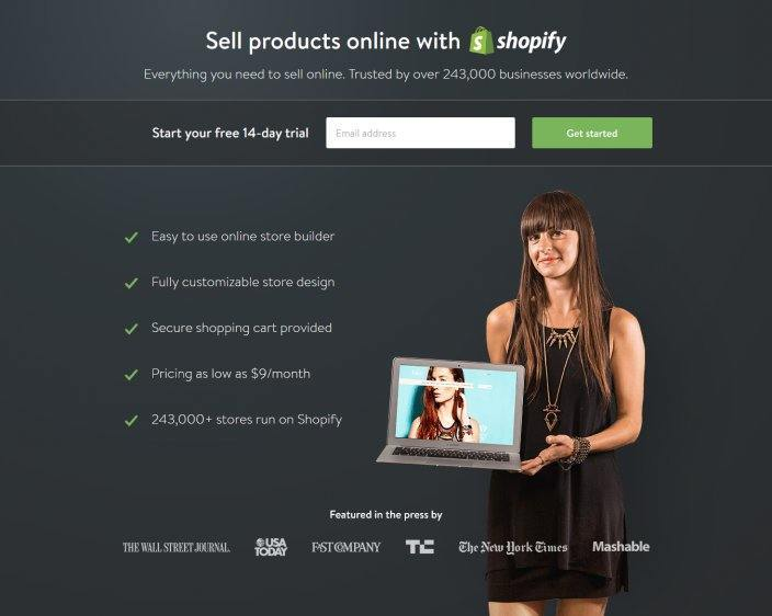 How Shopify Has Used Post-Click Landing Pages to Dominate