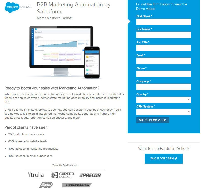 15 Ways Salesforce Uses Landing Pages to Generate Business