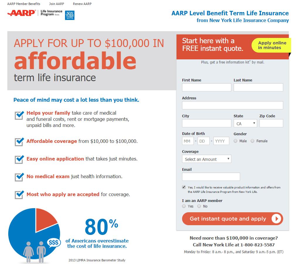Life Insurance Landing Page