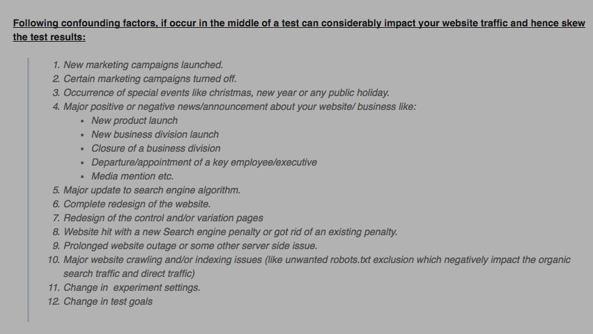 This picture shows marketers some split testing variables to run to optimize post-click landing page conversion rates.