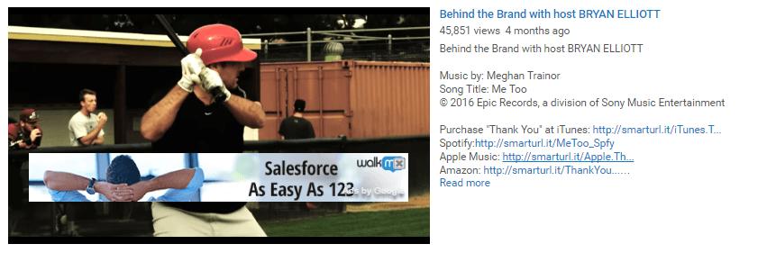 На этом рисунке показано, как маркетологи используют экранную рекламу в своих видео для привлечения трафика на свою целевую страницу YouTube после нажатия.
