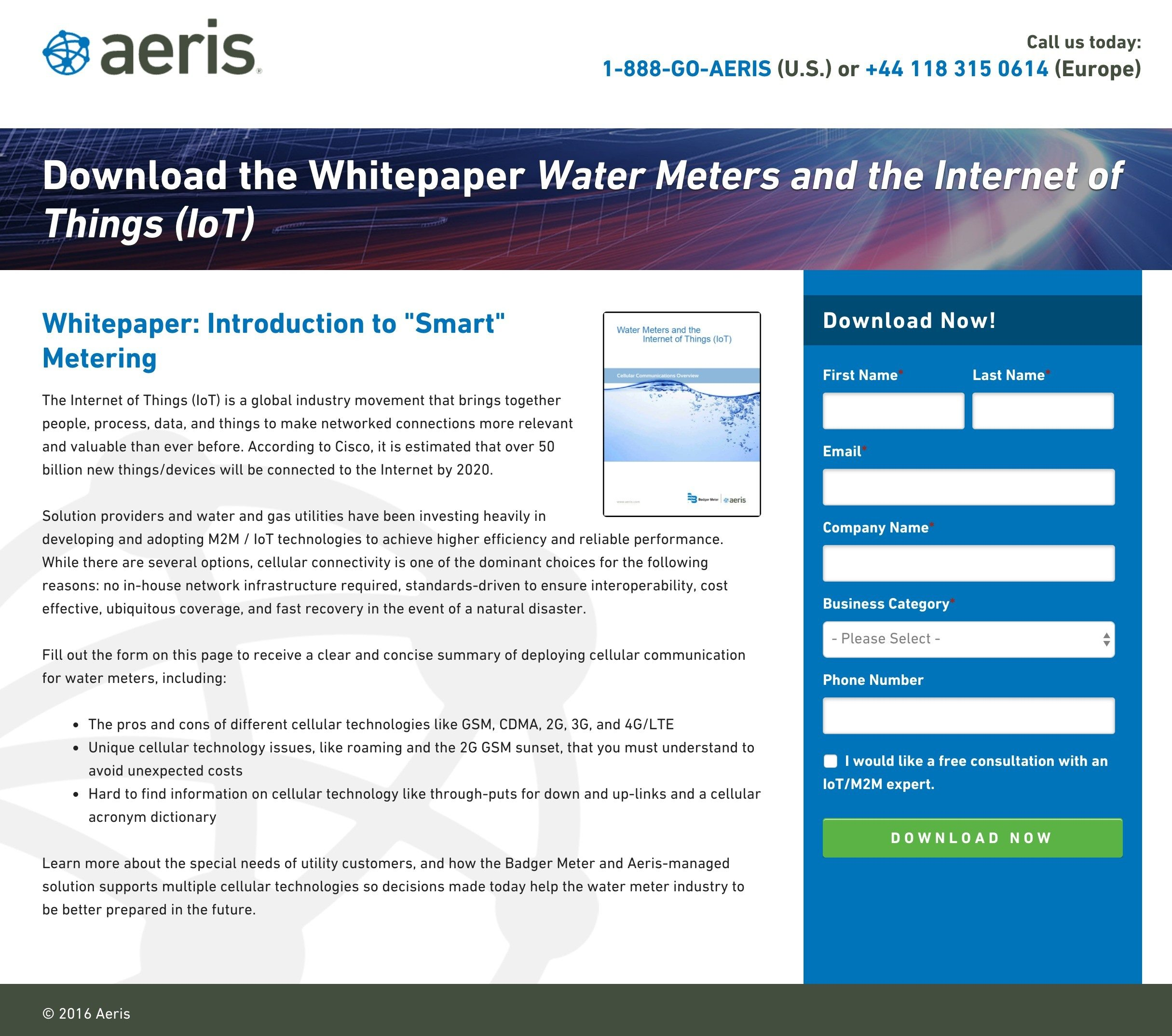 This Picture Shows Marketers How Aeris Uses A White Paper Landing Page To Create A Great