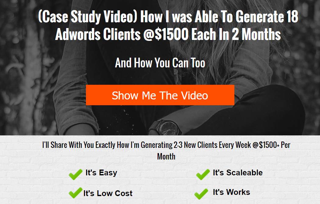 More Clients More Results post-click landing page Example