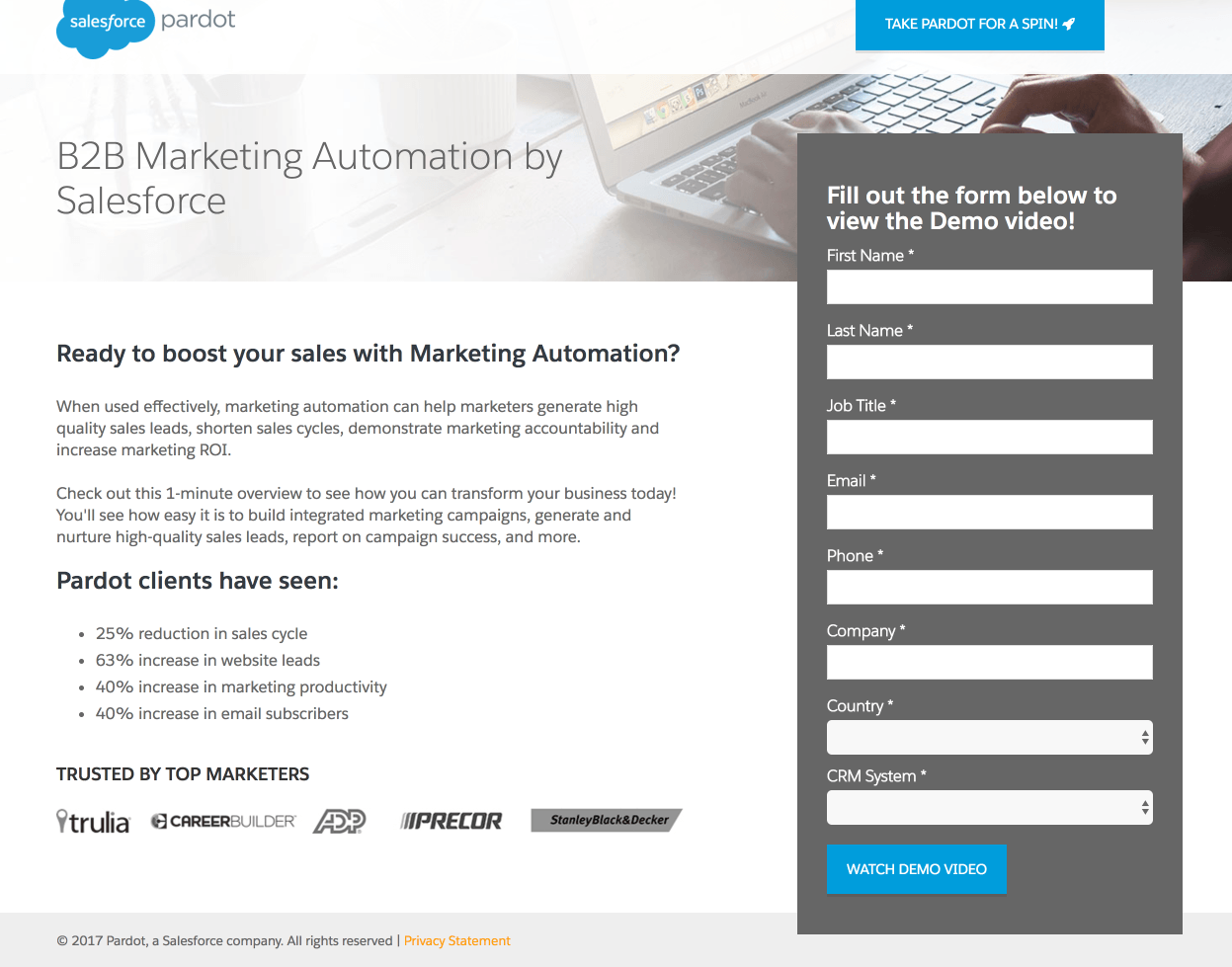 7 Pardot Landing Pages That Get Potential Customers to Act