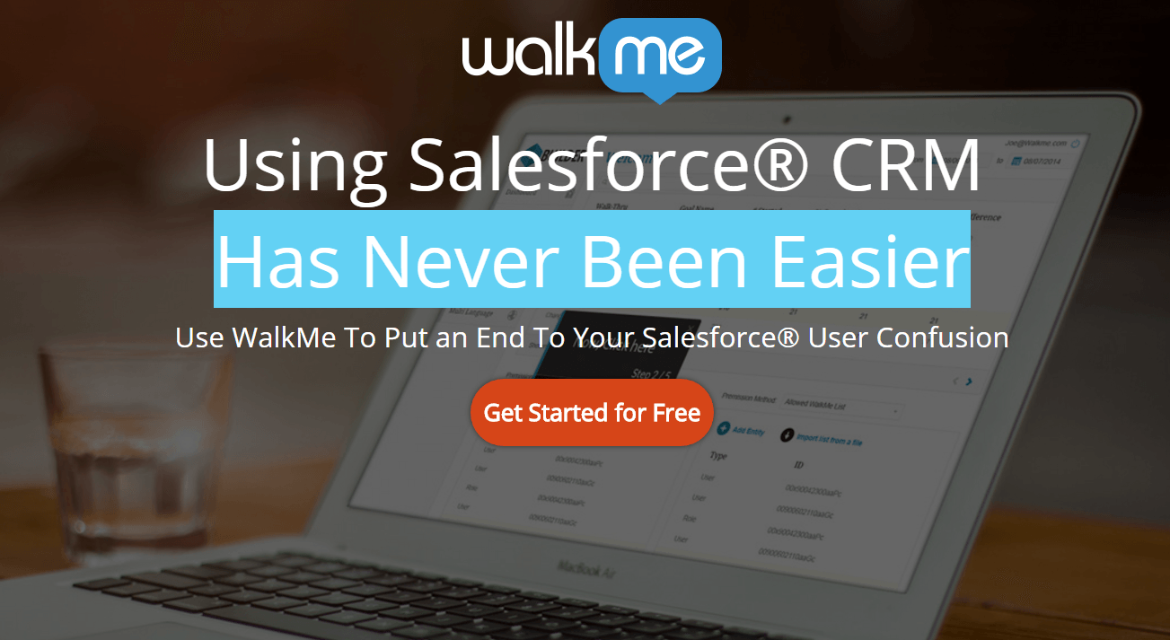 WalkMe post-click landing page Example