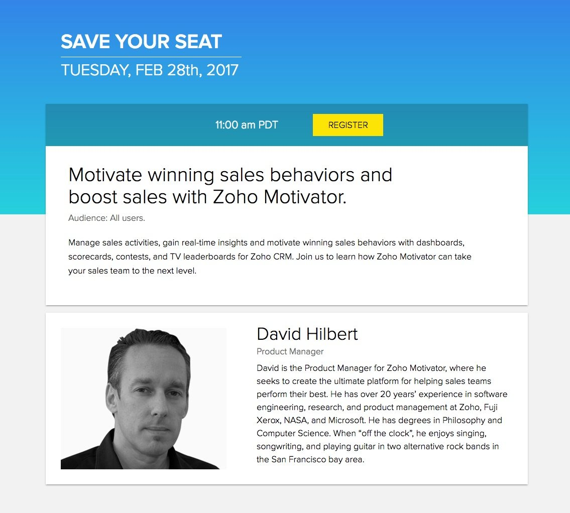 7 Zoho Landing Pages That Persuade Visitors to Take Action