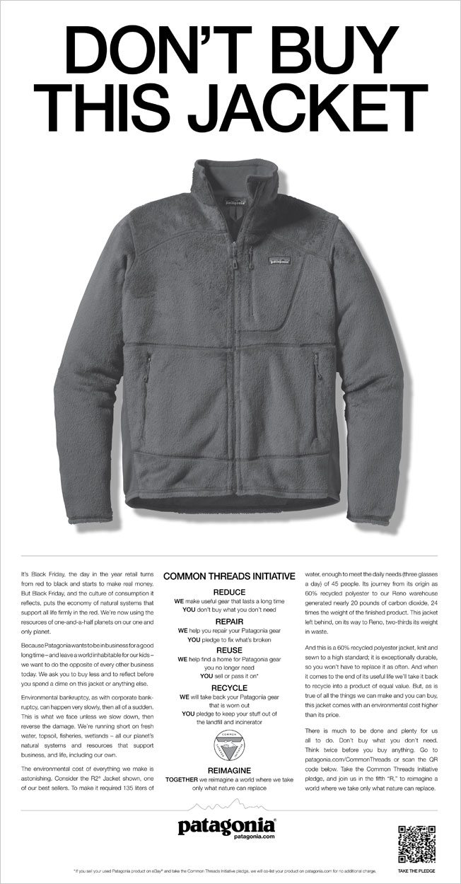 brand authenticity Patagonia ad