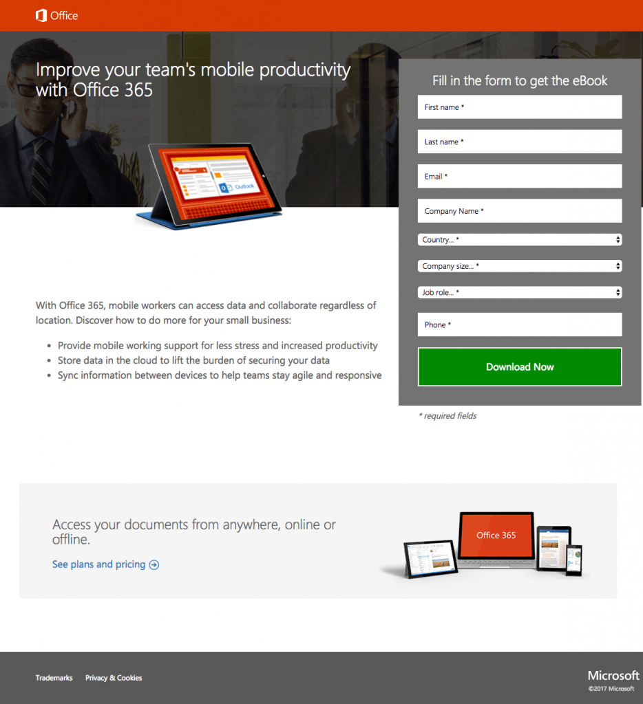 25 of the Best Landing Page Examples from Top Companies to Inspire