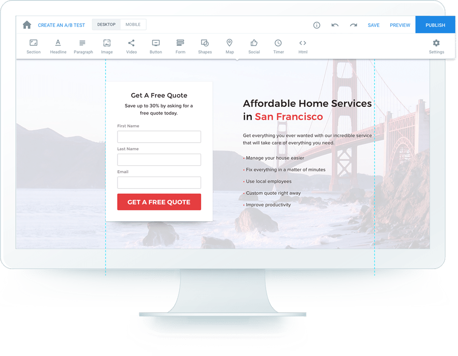 instapage the advertising conversion cloud™build post click landing pages, at scale