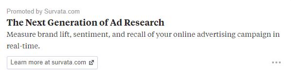 Quora ads Survata