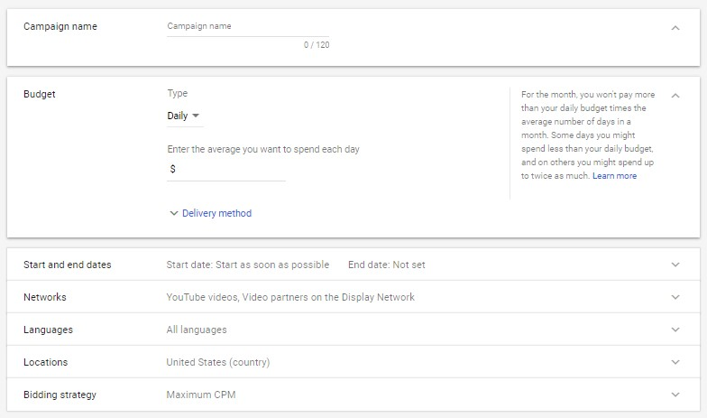 YouTube bumper ads customization