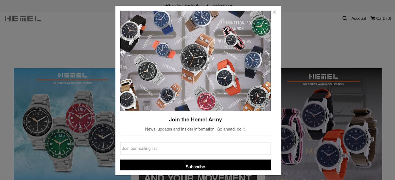 best ecommerce post-click landing pages Hemel