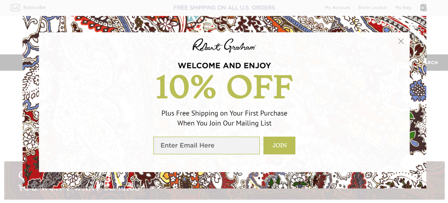 best ecommerce post-click landing pages Robert Graham