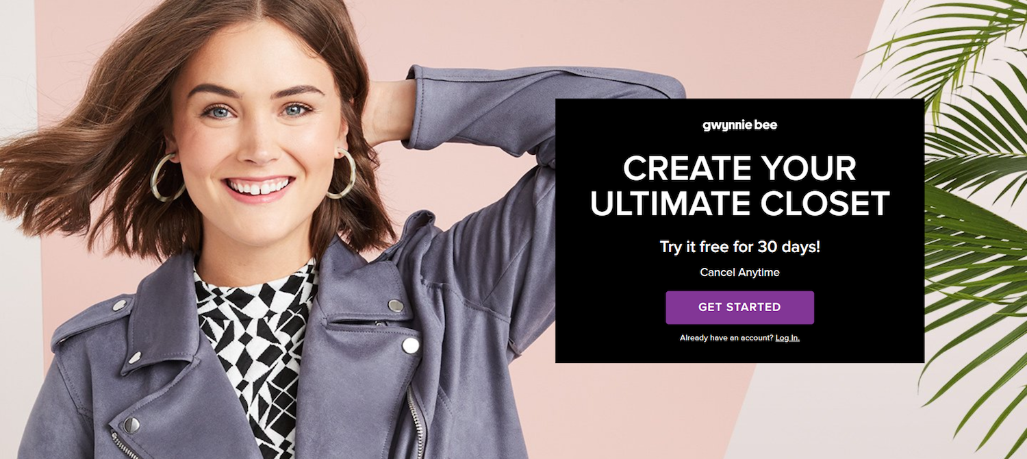 ecommerce post-click landing page design Gwynnie Bee