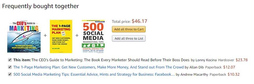 cross-selling Amazon example
